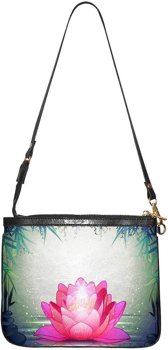 InterestPrint Women's Lightweight Purse and Handbag PU Leather Small Shoulder Bag Little Rose