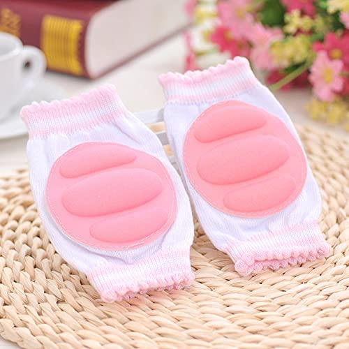 DFGER Bebé cunera acogedora algodón Esponja Transpirable niños Rodilla Almohadillas Aprender a Caminar Mejor protección Cowling Leggings Pad (Color : Pink)