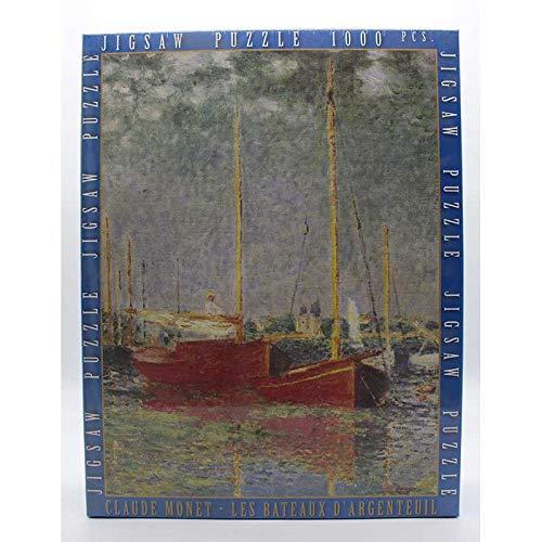 IMPRONTEEDIZIONI Les Bateaux d'argenteuil, Claude Monet, 68x48 cm - Puzzle 1000 Pezzi
