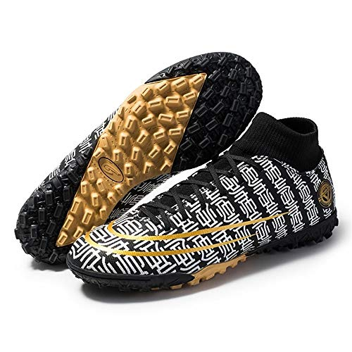 AIRUYI Zapatos de fútbol TPU TPU Suela De Punto Cubierta De Calcetines De Punto Zapatos De Fútbol Zapatos Deportivos (Color : Black, Size : 35)