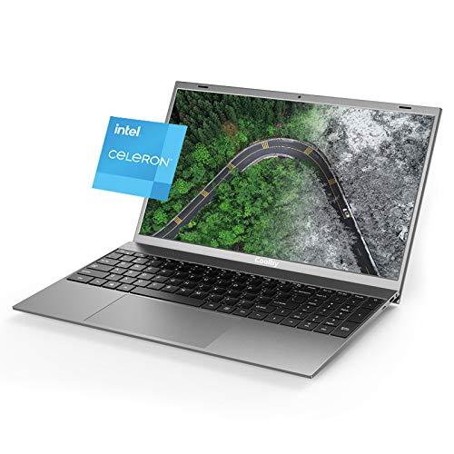 Computer laptop sottile da 15,6 pollici, Intel J4115 Quad Core da 8 GB DDR4,256 GB SSD, PC Notebook 1080P Windows Laptop, Windows 10 Pro PC laptop, tastiera full size, grigio