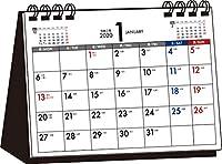 2020年 シンプル卓上カレンダー 月曜始まり A6ヨコ【T5】 ([カレンダー])