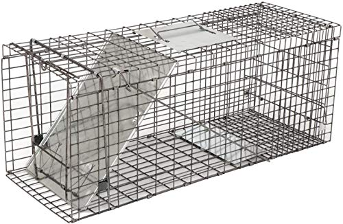 Live Animal Trap - Humane Catch & Release Cage for Raccoon, Opossum, Stray Feral Cat, Rabbit -...