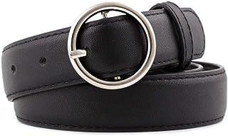 أحزمة جلدية للنساء لينة فو الجلود جينز حزام الأزياء أحزمة مرنة