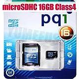 PQI JAPAN microSDHCカード Class4 16GB SDアダプター付き 永久保証 BMRSDH4-16G