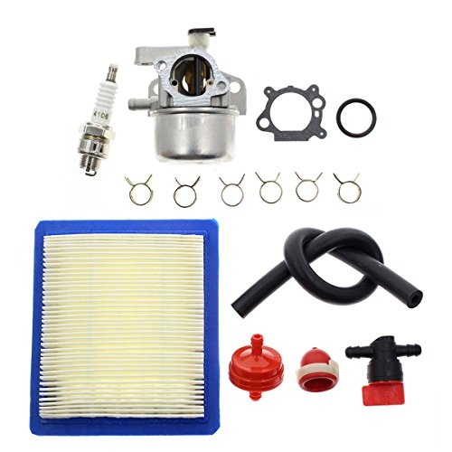 """Carbhub Carburetor Replacement for Briggs & Stratton 799866 790845 799871 796707 794304 12H800 Engine Toro Craftsman Lawn Mower Carb Toro 22"""" Recycler with Air Filter Spark Plug Primer Bulb"""