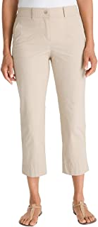 Chico's Women's Secret Stretch Straight-Leg Crop Pants