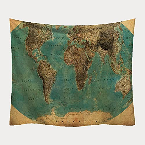 NTtie Tapiz De Tapices para La Sala De Estar Dormitorio Impresión del Mapa del Mundo de la tapicería de la decoración del paño de la Pared