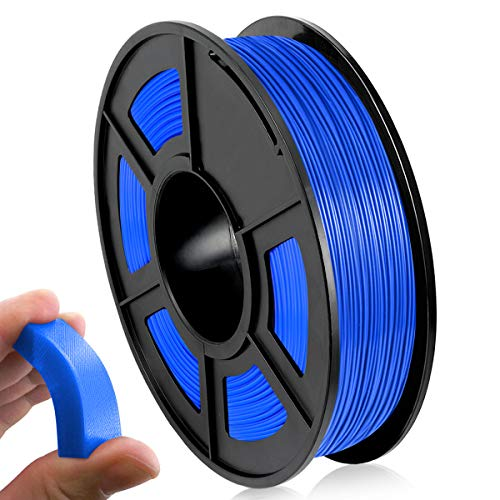 Filamento 3D TPU 1,75 mm, Filamento Flexible de TPU 0,5 kg para Impresión 3D, TPU Filament Azul