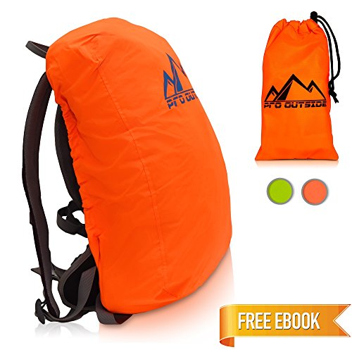 PRO OUTSIDE | Cubierta de mochila y cubierta de lluvia Premium 15 a 25 L | Incluye Bolsa de...