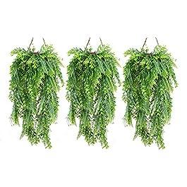 Cekene Lot de 3 plantes artificielles à suspendre – Feuilles de buis – Lierre à suspendre – Décoration murale…