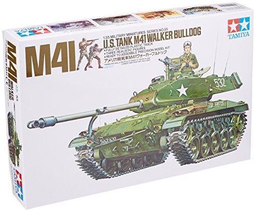 タミヤ 1/35 ミリタリーミニチュアシリーズ No.55 アメリカ陸軍 軽戦車 M41 ウォーカーブルドック プラモデ...