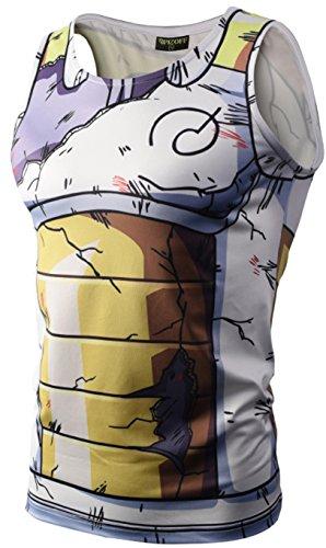 Pizoff PIZOFF Unisex ärmelloses Muskelshirt mit 3D Zeichentrick-Druck für Training - - Mittel