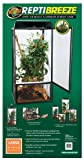 Zoo Med ReptiBreeze Screen Terrarium, Large Size 18' W x 18' D x 36' H Bundle with Carolina Custom Cages' Chlorhexidine Solution 2%; 1 Refill Makes 32 oz. of Working Solution