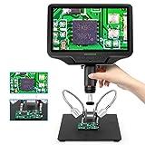 Andonstar AD409 Microscopio digital HDMI de 9,7 pulgadas con pantalla LCD 300X USB para magnificación, soldadura PCB, colección de monedas