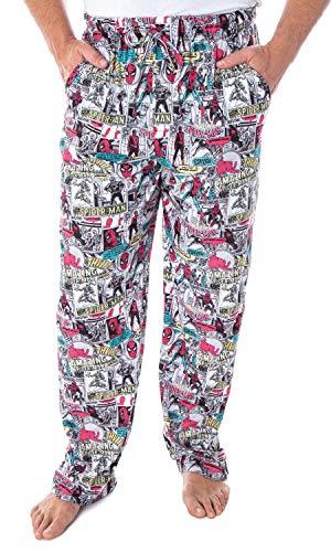 Marvel Men's Spiderman Vintage Comic Book Amazing Spider-Man Adult Sleep Lounge Pajama Pants (2XL)