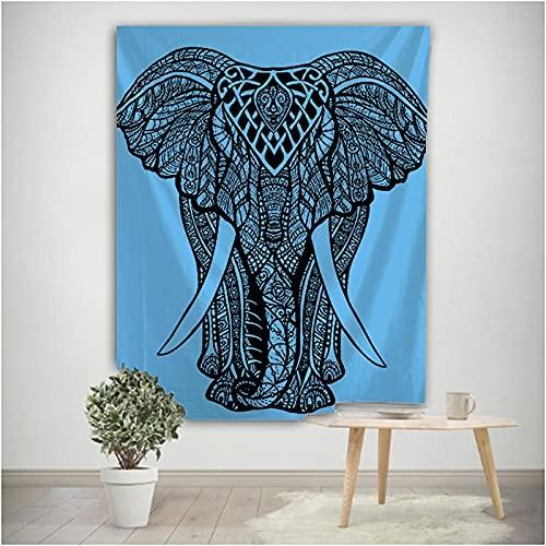 Mandala elefante tótem indio montaje en pared bohemio gitano psicodélico Tapis brujería tapiz tela colgante A2 150x200cm