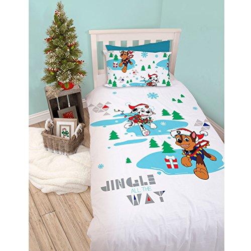 Paw Patrol Single Christmas Duvet Set – Snowdog Design Perfect Christmas Bedding