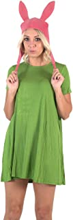 Bob's Burgers Louise Hat with Green Dress Costume Set