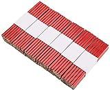 KAHEIGN 72 Piezas Lápices De Carpintero Planos, 17cm Medio Duro Plomo De Grafito Lápices Con Caja De Madera Natural Para Constructores