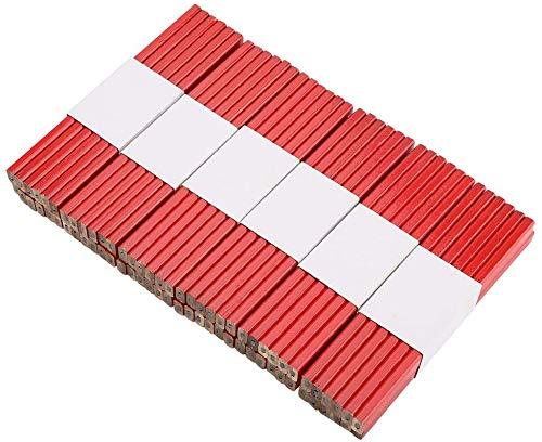 KAHEIGN 72Pcs Zimmermann Bleistift Set, 175mm Achteckig Rot Holzbearbeitung Bleistifte zum Markieren und Anzeichnen auf der Baustelle, Markierungswerkzeug Baubleistift