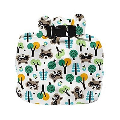 Bambino Mio, wet diaper bag, raccoon retreat