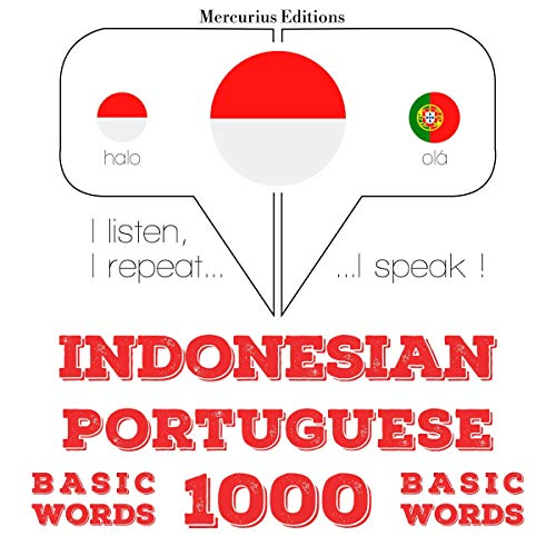 Indonesian – Portuguese. 1000 basic words cover art