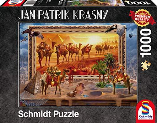 Schmidt Spiele 59338 - Jan Patrik Krasny oder Coming to Life, Die Wüste - Klassische Puzzle, zum Leben erwacht, 1.000 Teile