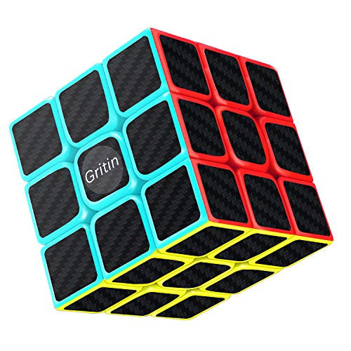 Magic Cube, Gritin 3x3x3 Smooth Speed Cube 3D Puzzles Cube With Vivid Color...