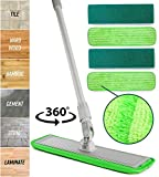 Microfiber Mop Floor Cleaning System - Washable Pads Perfect Cleaner...