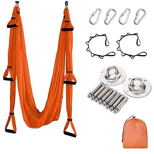 MQSS Hamaca Yoga Aereo Elastica, Antigravedad Swing Sling Inversión Flexibilidad Mejorada y...