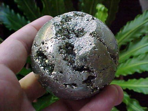 E0701 Gemqz Recommendation Sacramento Mall Pyrite Hollow Peru Sphere Carved