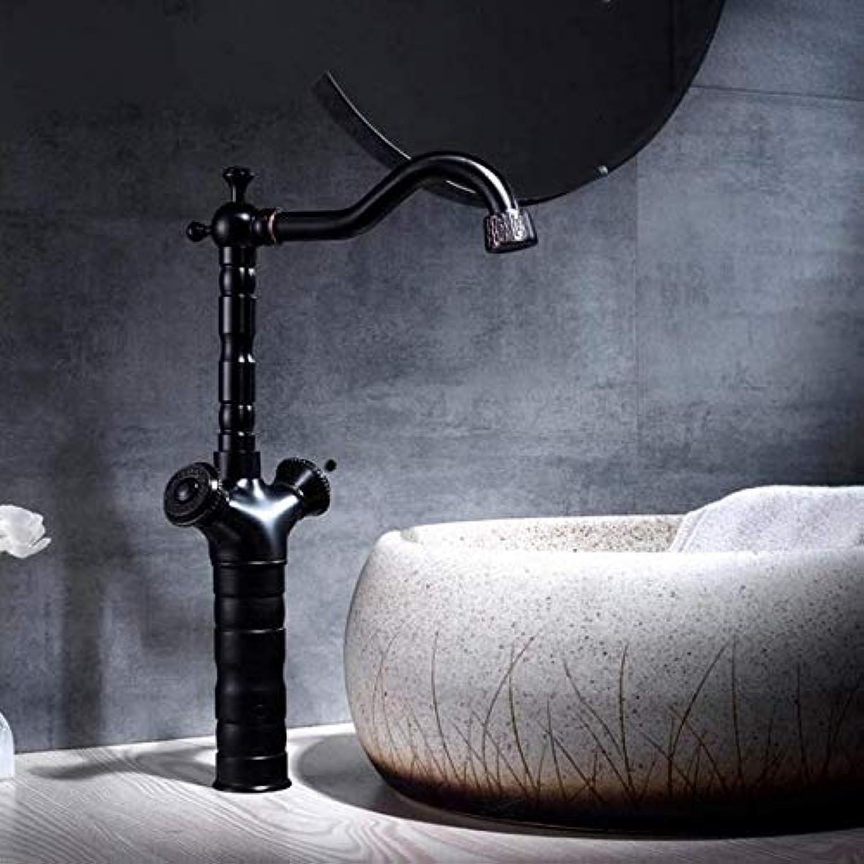 Wasserhahn Waschtischarmaturen Schwarz Antik Messing Doppelkreuzgriff Waschbecken Wasserhahn Hoch Schwenkauslauf Waschbecken Waschtisch Mischbatterien