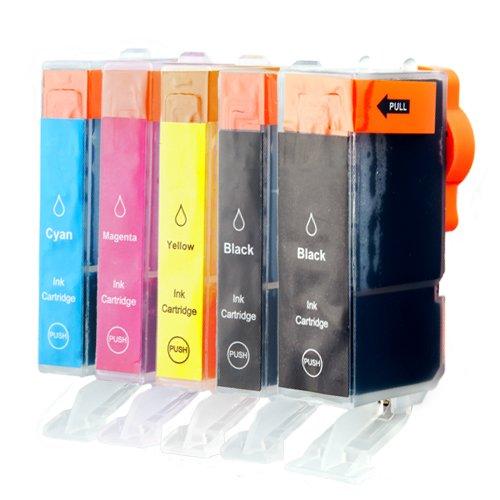 Tito-Express PlatinumSerie 5 Druckerpatronen XXL mit Chip für Canon PGI-5BK CLI-8BK CLI-8C CLI-8M CLI-8Y Z.B. für für Canon Pixma IP 4500 X