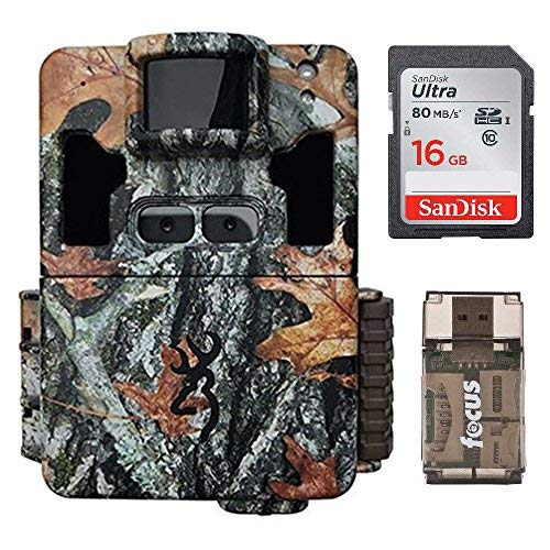 Browning Dark Ops Pro XD Dual Lens 24MP 1080p Trail Camera Bundled with 32GB SD Card and Memory Card Reader (3 Items)