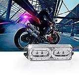 Mini Licencia tamaño de la Motocicleta LED de la Niebla de la lámpara de Flash Faro de luz estroboscópica Moto Día DRL luz de Advertencia Luces traseras de Freno Trasero Moto