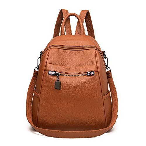 CMZ Backpack Multifunctional Backpack All-Match Women's Soft Leather Sheepskin Large-Capacity Waterproof Female Leather Bag