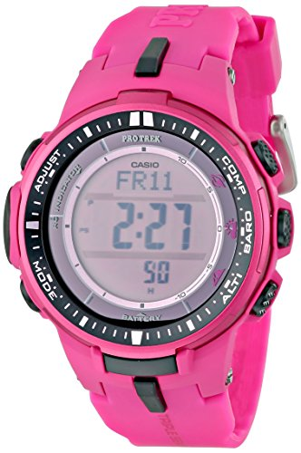Casio Men's PRW-3000-4BCR Pro Trek Digital Display Quartz Pink Watch
