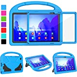 TIRIN Kids Case for Samsung Galaxy Tab A7 10.4, Samsung Tab A7 10.4 Case, Built-in Screen Protector Lightweight Shockproof Handle Stand Case for Samsung Galaxy A7 Tablet 2020(SM-T500/T505/T507) - Blue
