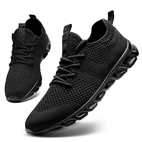 HIIGYL Zapatillas de Mujer Running Sneakers Tenis Atlético Calzado para Gimnasio Calzado Deportivas Ligero y Transpirable Calzado para Caminar al Aire Libre Negro EU 38