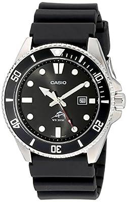 Casio Men's MDV106-1AV 200M Duro Analog Watch, Black by Casio