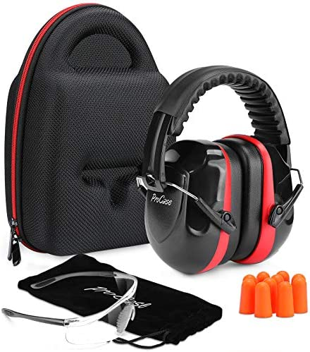 ProCase Shooting Ear Protection Earmuffs Gun Safety Glasses and Soft Earplugs Shooting Range product image