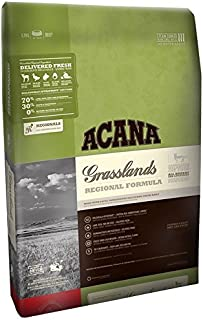 ACANA Regionals Grasslands Dry Cat Food, 4 lb. Bag. (Grass-FED Lamb, Freshwater Trout & Game Bird) Grain Free Cat Food.