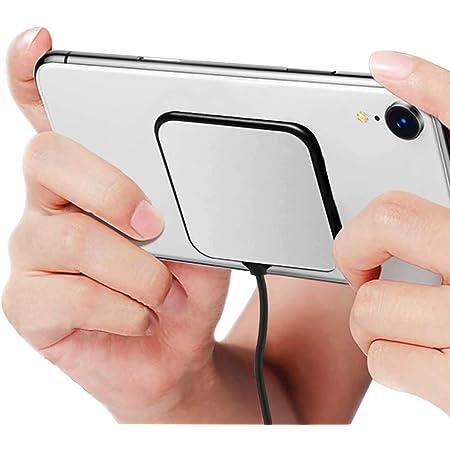 ワイヤレス充電器 Qi対応 吸盤 急速充電 超薄型 滑り止め 吸盤式チャージャー 軽量 ミニ 本体吸着 ワイヤレス充電 USB給電 ケーブル付き qi ワイヤレスチャージャー Wireless PowerPort ゲーム iPhone/Android携帯に対応 ユニバーサル吸盤(ブラック)