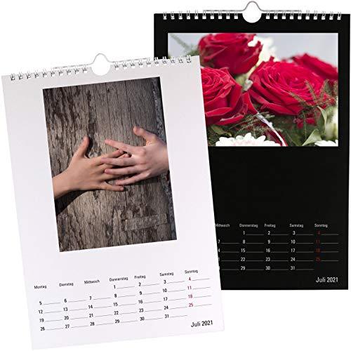 Premium Bastelkalender 2021 Fotokalender A4 für eigene Fotos Kreativkalender zum selber gestalten