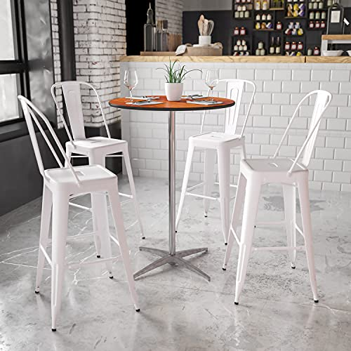 Flash Furniture 30'' Round Wood Cocktail Table with 30'' and 42'' Columns