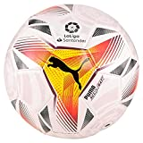 PUMA LaLiga 1 Accelerate Mini Ball Balón de Fútbol, Unisex-Adult, White-Multi Colour