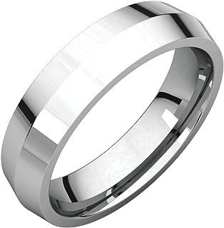 FB جواهر 925 الفضة الاسترليني 5 مم سكين حافة الراحة صالح الرجال خاتم الزفاف الفرقة