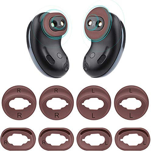 sciuU [4 Paare] Ear Wing Tips, Weiches Silikon-Ohrgel Kompatibel mit Samsung Galaxy Buds Live 2020 Earbuds Kopfhörer, Ersatz rutschfeste Anti-verlorene Ohr Flügelabdeckung, Schwarz