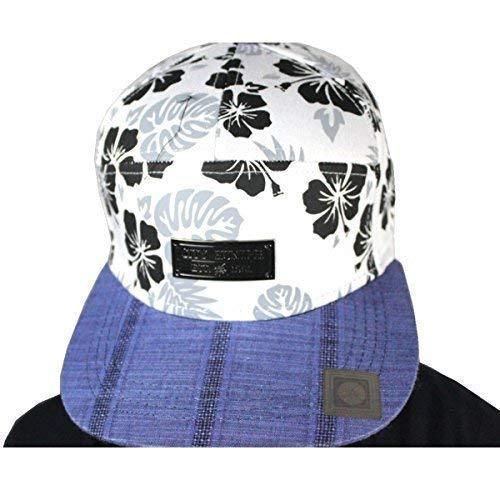 City Hunter Floral 7 Panneau Casquette Baseball Hip Hop Designer Street Chapeaux - Blanc, One Size